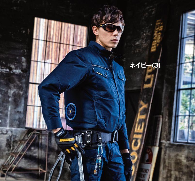 バートル AC1131 バートル エアークラフト[空調服]長袖ブルゾン(男女兼用) 綿100% 11-AC1131 エアークラフトブルゾン(男女兼用) モデル着用雰囲気1