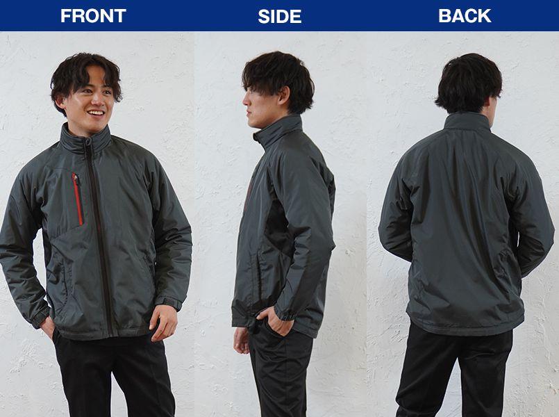 43800 桑和 かっこいい防寒ジャケット モデル前後(メンズ)