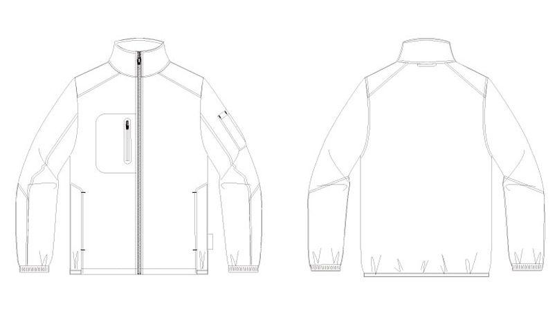 AZ10307 アイトス タルテックス [秋冬用]軽量防寒ジャケット ハンガーイラスト・線画