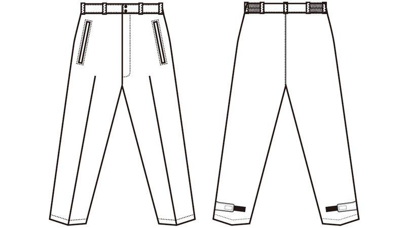 AZ8472 アイトス タルテックス 業務用 防風防寒ズボン(パンツ) ハンガーイラスト・線画