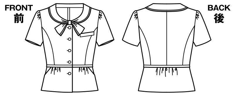 AJ0827 BONMAX/セフィーロ オーバーブラウス チェック ハンガーイラスト・線画