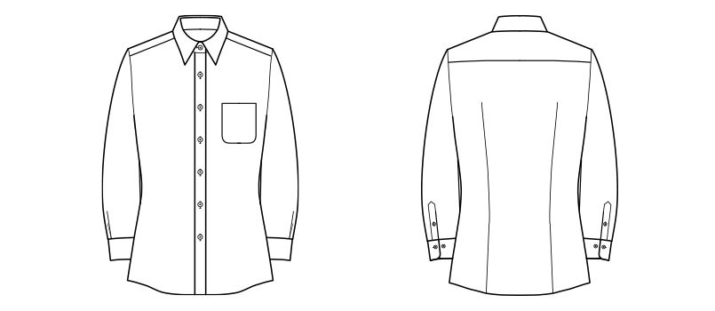 FB4030L FACEMIX 吸水速乾ブラウス/長袖(女性用) ハンガーイラスト・線画