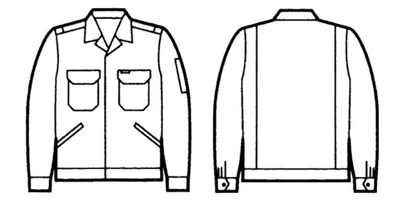 3300 自重堂 エコ製品制電ジャンパー(JIS T8118適合) ハンガーイラスト・線画