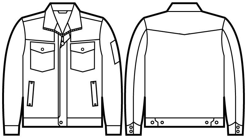 自重堂 51000 JAWIN 長袖ジャンパー ハンガーイラスト・線画