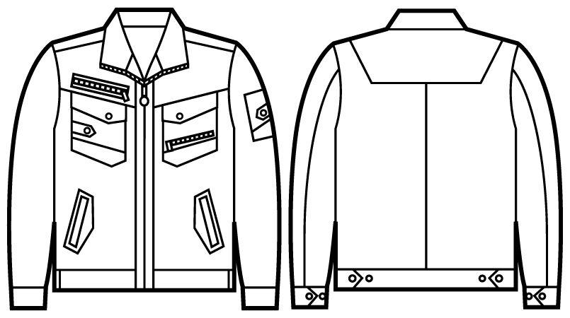 自重堂 52100 [秋冬用]JAWIN 長袖ジャンパー(新庄モデル) ハンガーイラスト・線画