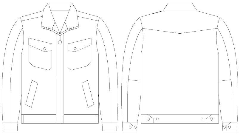 自重堂 55100 [春夏用]JAWIN 長袖ジャンパー(綿100%) ハンガーイラスト・線画