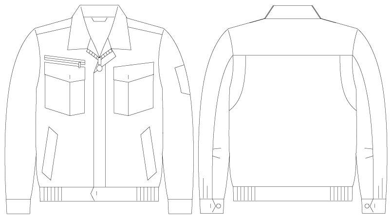 自重堂 55200 [春夏用]JAWIN 長袖ブルゾン ハンガーイラスト・線画