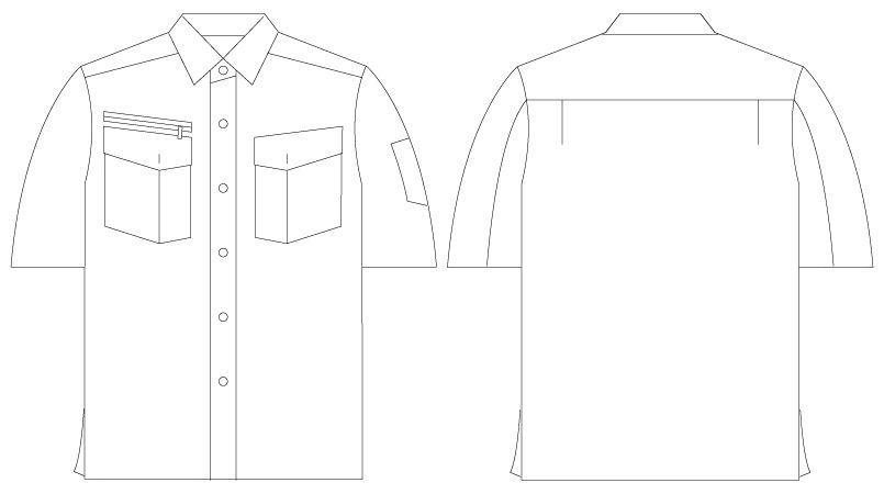 自重堂 55214 [春夏用]JAWIN 半袖シャツ ハンガーイラスト・線画
