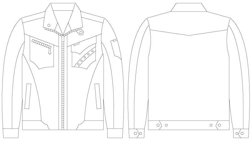 55600 自重堂JAWIN [春夏用]長袖ジャンパー ハンガーイラスト・線画