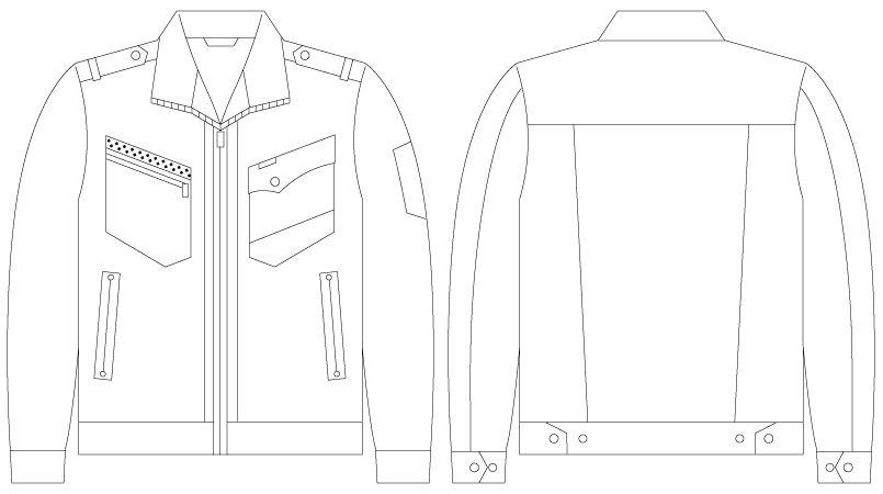 自重堂JAWIN 55700 [春夏用]長袖ジャンパー(新庄モデル) ハンガーイラスト・線画