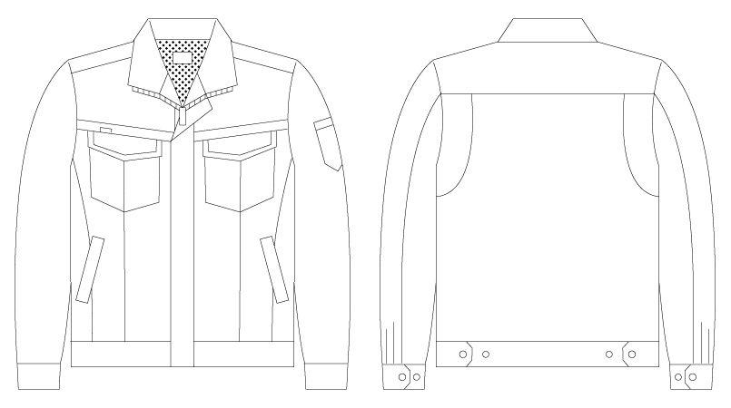 56200 自重堂JAWIN [春夏用]長袖ジャンパー(新庄モデル) ハンガーイラスト・線画