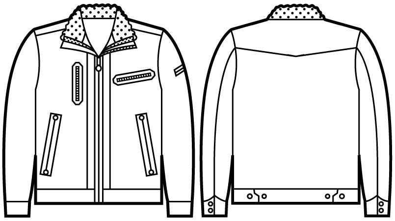 自重堂JAWIN 58100 防寒ジャンパー ハンガーイラスト・線画