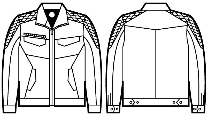 71400 自重堂Z-DRAGON 長袖ジャンパー ハンガーイラスト・線画