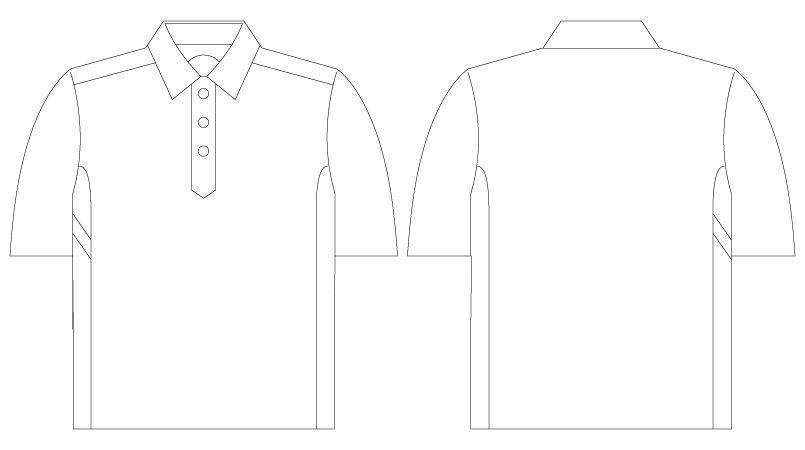 75114 自重堂Z-DRAGON 半袖ポロシャツ(男女兼用) ハンガーイラスト・線画