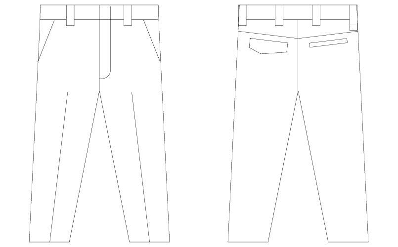 自重堂Z-DRAGON 75301 [春夏用]製品制電ノータックパンツ(男性用) ハンガーイラスト・線画