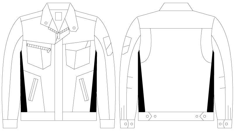 自重堂Z-DRAGON 75500 [春夏用]製品制電長袖ジャンパー ハンガーイラスト・線画