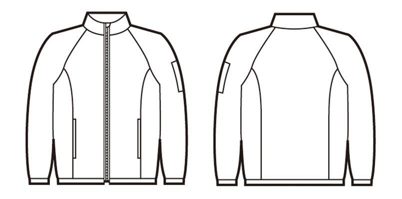 81230 自重堂/フィールドメッセージ ポータブル長袖ジャケット ハンガーイラスト・線画