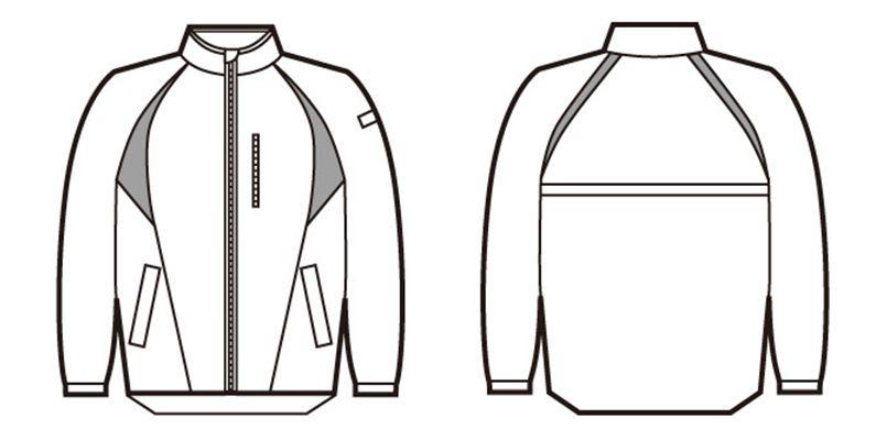 81260 自重堂 スタッフジャケット ハンガーイラスト・線画