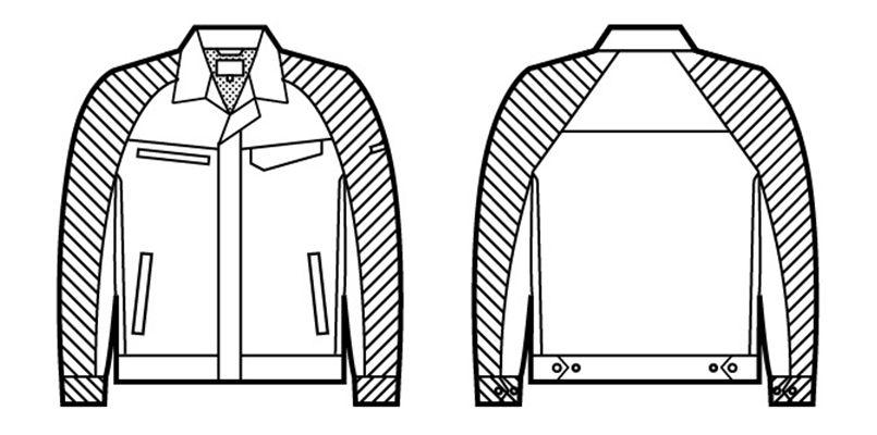 86800 自重堂 製品制電ストレッチ長袖ジャンパー(男女兼用) ハンガーイラスト・線画