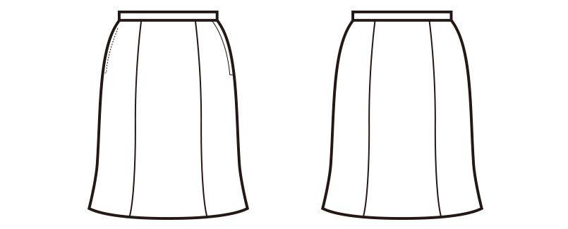 en joie(アンジョア) 51415 ワンランク上の着心地を実現!マーメイドスカート 無地 ハンガーイラスト・線画