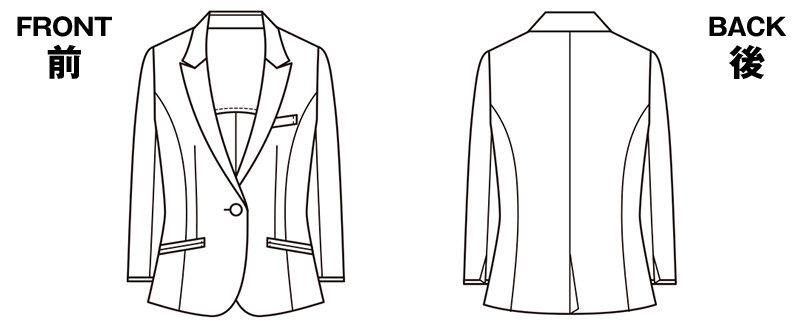 ESJ457 enjoy ジャケット 無地 ハンガーイラスト・線画