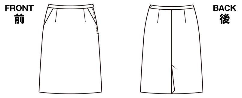 ESS456 enjoy [通年]セミタイトスカート ストライプ ハンガーイラスト・線画