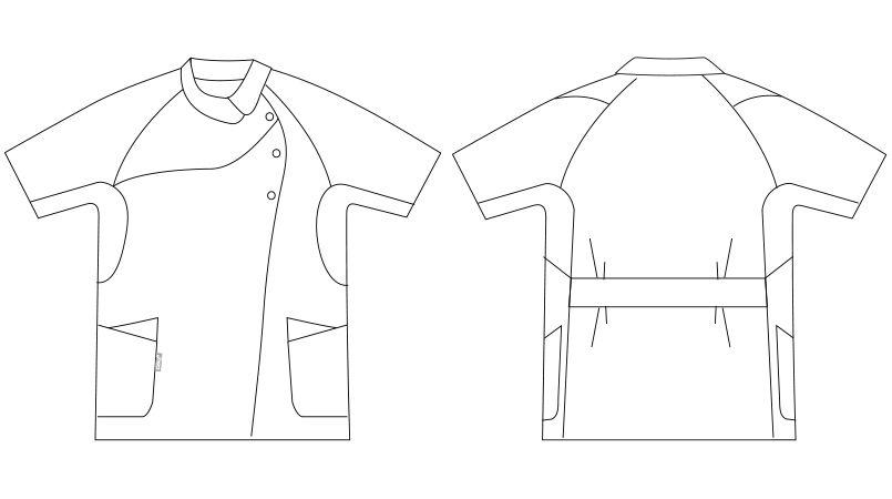 LKM001-0100 0105 0119 0145 アシックス(asics) ナースジャケット(女性用) ハンガーイラスト・線画