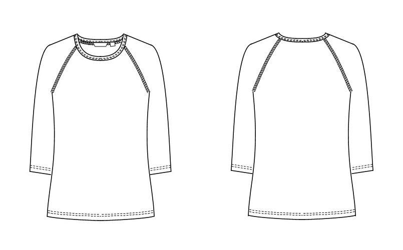 SI5077 ナガイレーベン(nagaileben) メディフォルテ Tシャツ(男女兼用) ハンガーイラスト・線画