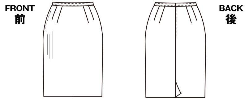 S-16010 SELERY(セロリー) 部屋干ししてもニオわない!お手入れラクラクのタイトスカート ストライプ ハンガーイラスト・線画