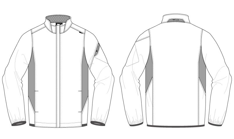 846616 TS DESIGN スーパーライトストレッチ ロングスリーブジャケット(男女兼用) ハンガーイラスト・線画